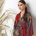 Multicolor Kimono Wrap Top Massami image