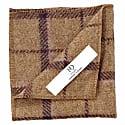 Regent Tan & Purple Herringbone Wool Pocket Square image