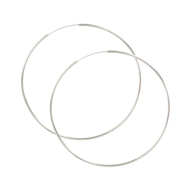 LATELITA LONDON Extra Lage Sterling Silver Hoop Earrings