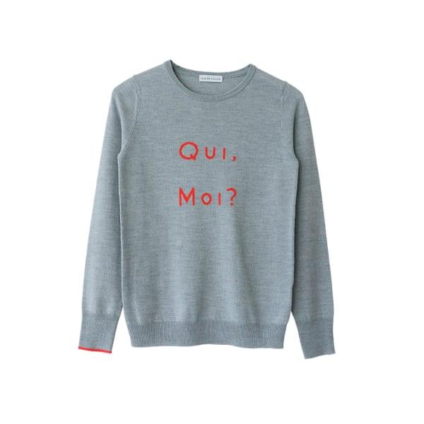 Qui Moi Merino Sweater S Ille De Cocos Wolf Badger