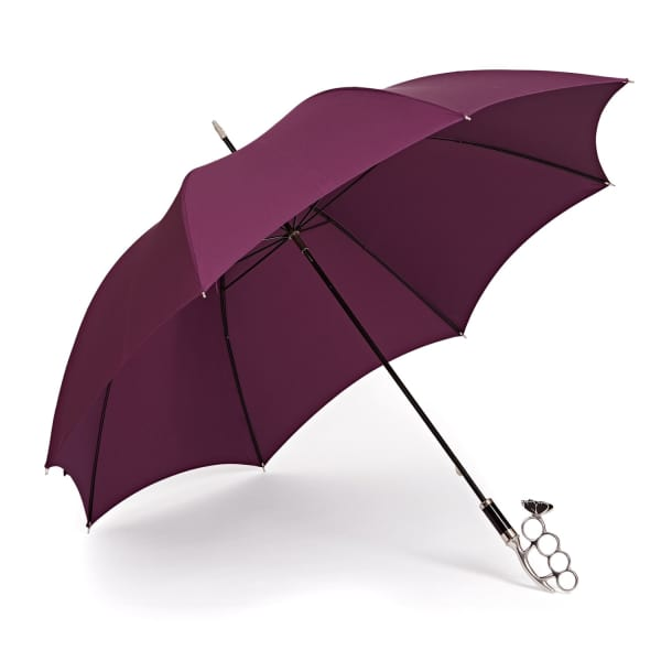 GIZELLE RENEE The Nirvana Long Aubergine Umbrella