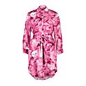 Carte Blanche Pink Galena 100% Silk Shirt Dress image