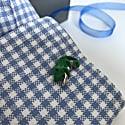 Chameleon Cufflinks In Silver & Green Enamel image