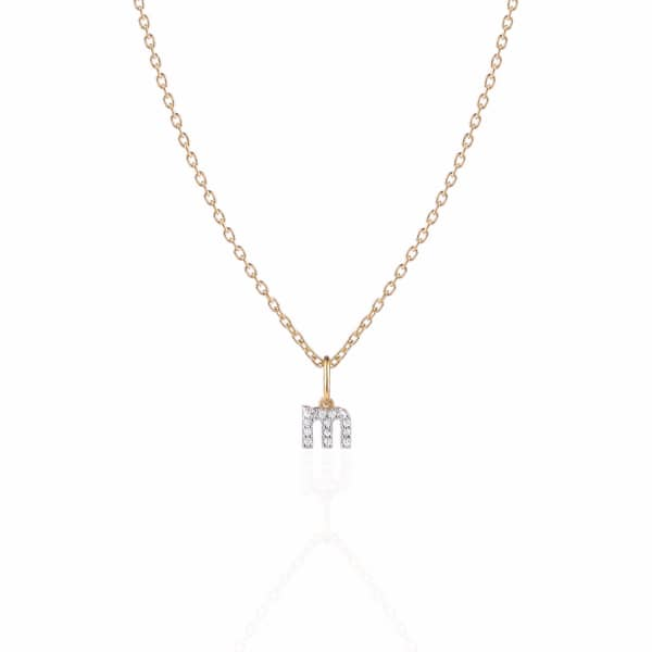 SHARON MILLS LONDON Monogram Mini Diamond Necklace M
