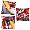 Koi Ii Set Of Three Multicolour Velvet Cushion Covers image