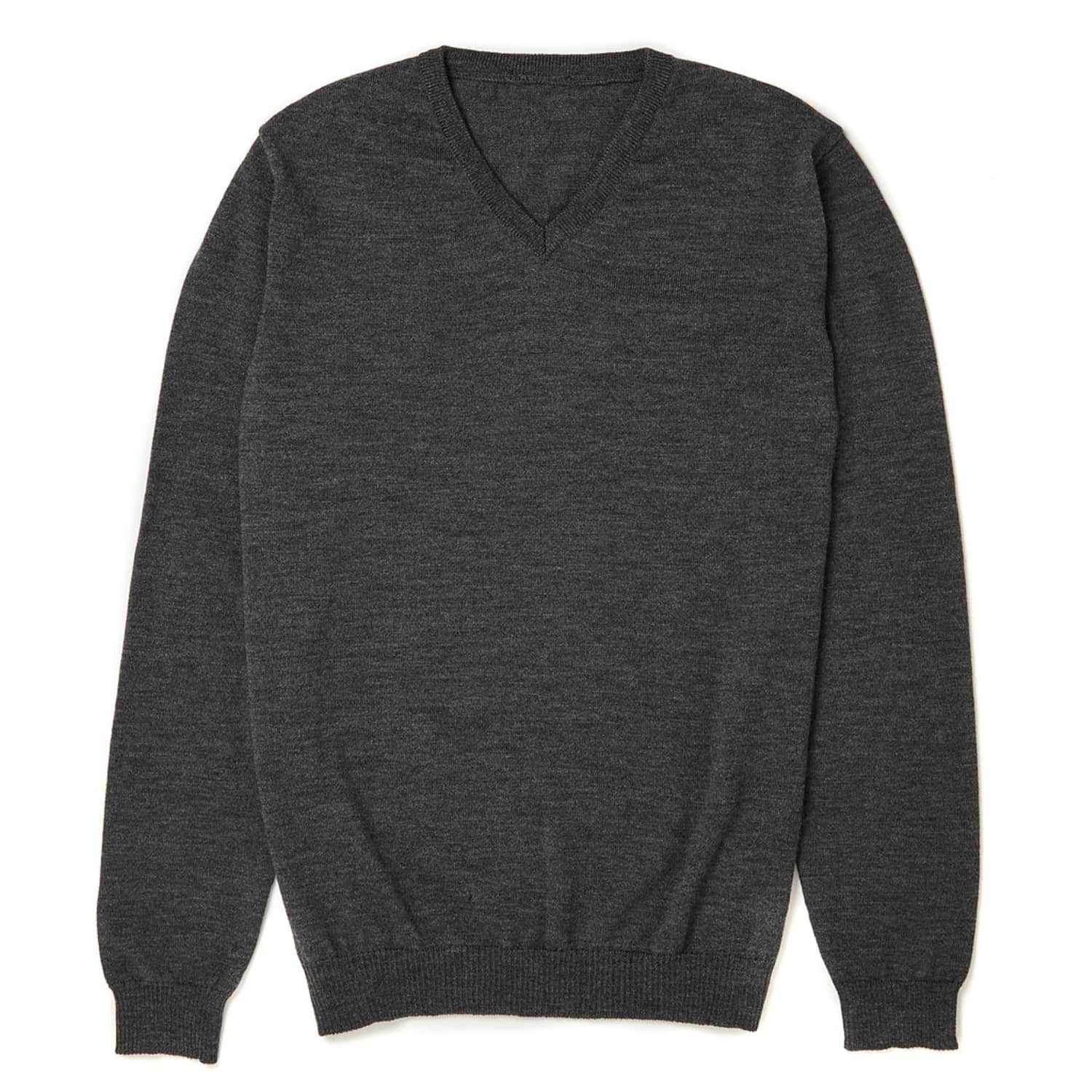 6ba5c47e9a Ossian Ultra Fine Merino Wool V Neck Jumper | Osso London | Wolf ...