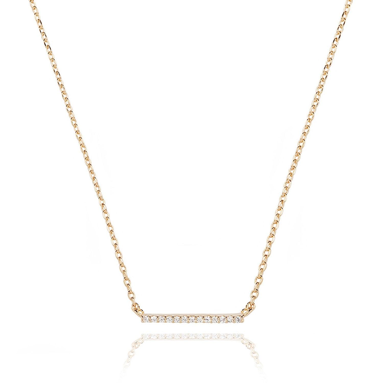 ec341b26a Astrid & Miyu - Walk The Line Small Bar Necklace in Gold | £29.00 | Port