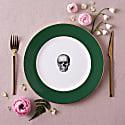 Forest Green Skull Dinner Plate image