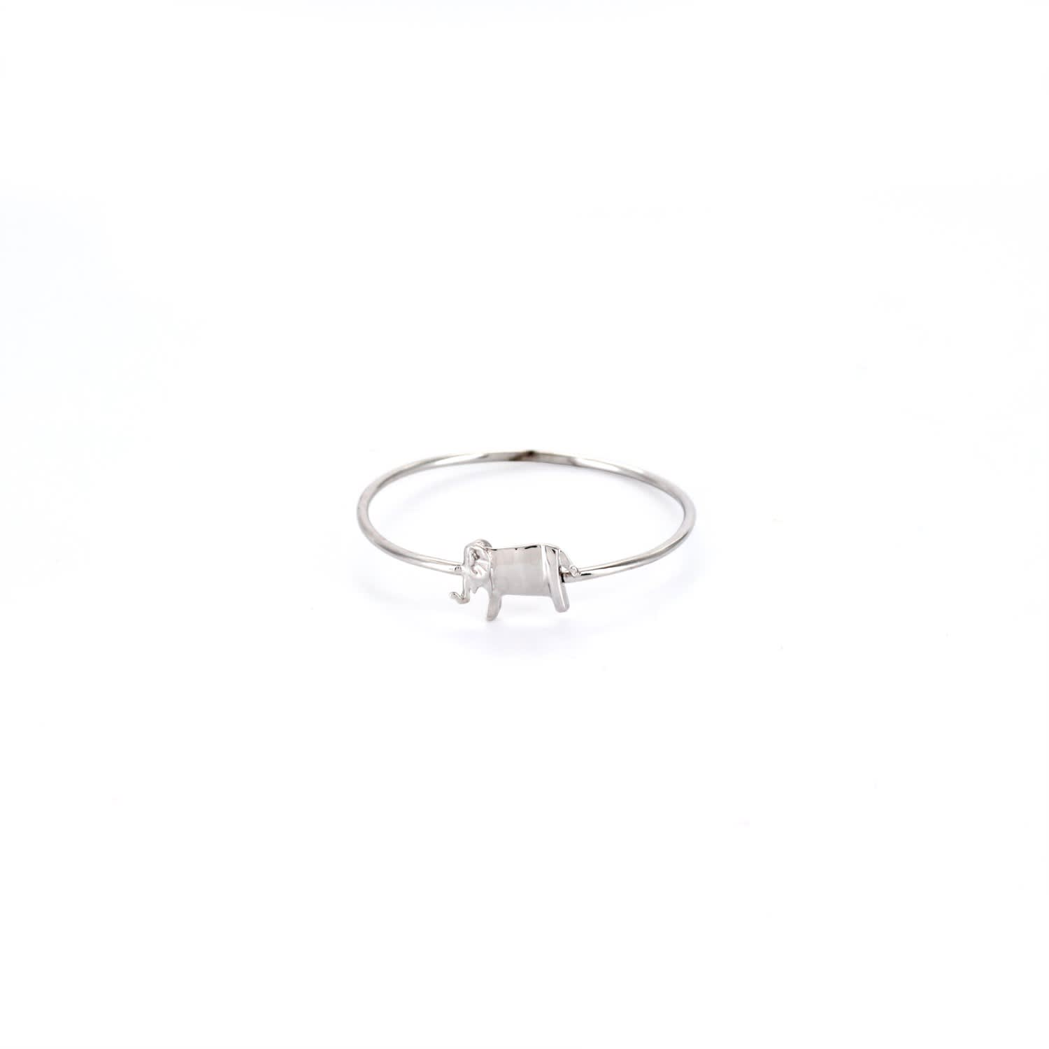 engagement silver elephant ring p rhodium polished plated rings sterling
