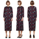 Hannah Flower Dress Navy image