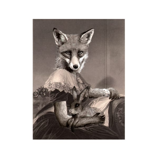 Mrs Spring Fox Print by Jimbob Art