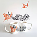 Butterfly Lover Fine English Bone China Mug image