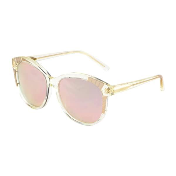 HEIDI LONDON Rose Gold Mirrored Decor Sunglasses
