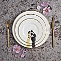 Kissing Couple Bone China Dessert Plate image