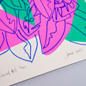 Neon Floral Limited Edition Screen Print image