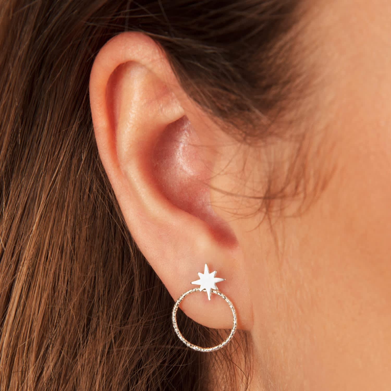 3f5986693 Star Stud Earrings & Ear Jackets Sterling Silver | Lucy Ashton ...