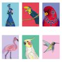 Set of Six Classy Birds Art Prints image