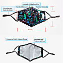 4 Pack 100% Organic Cotton Face Mask (W/ Filter Pocket) - Floral Love image