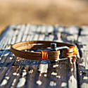 Teahupo'o Leather Bracelet in Orange image
