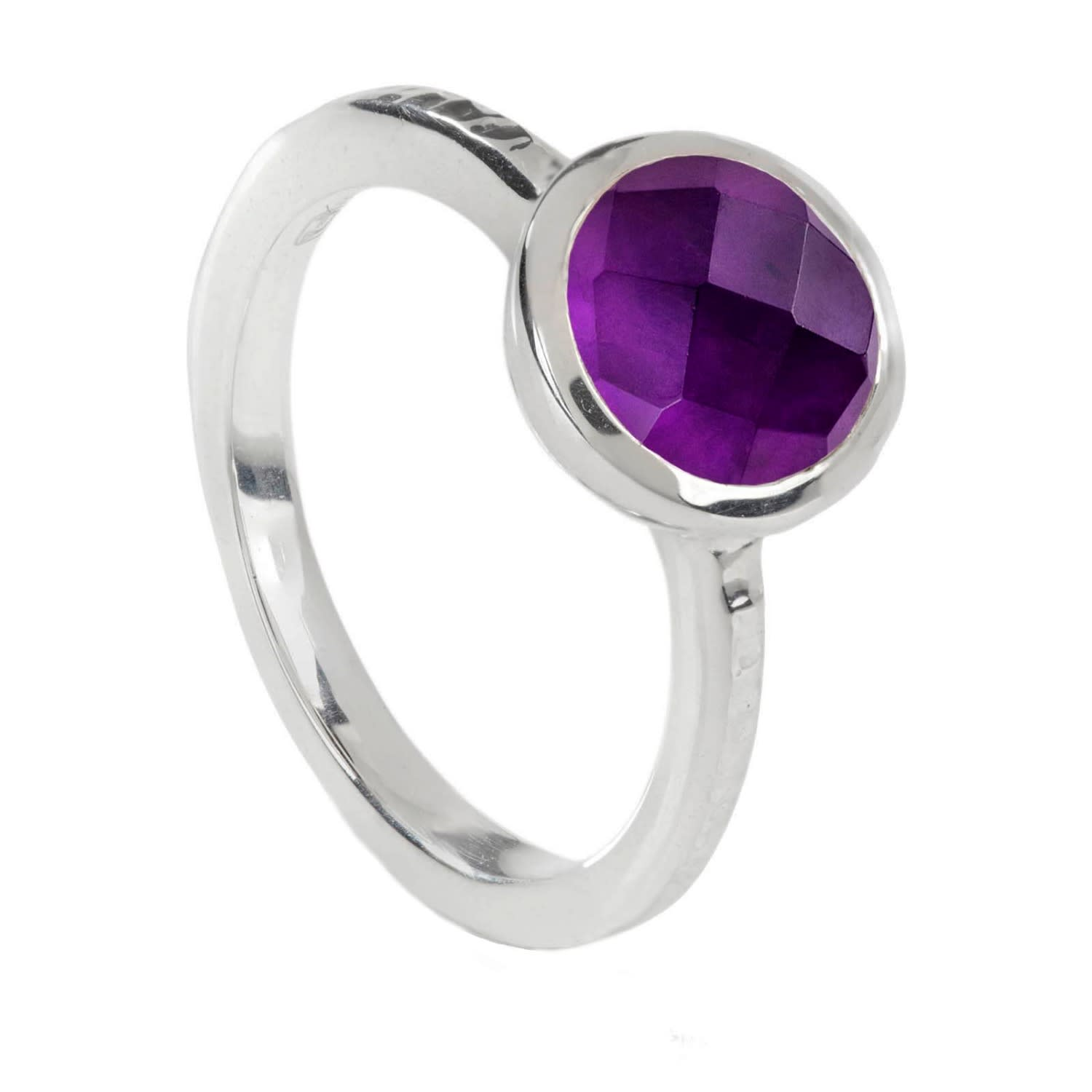 Amethyst Ring Stackable Ring Sterling Ring