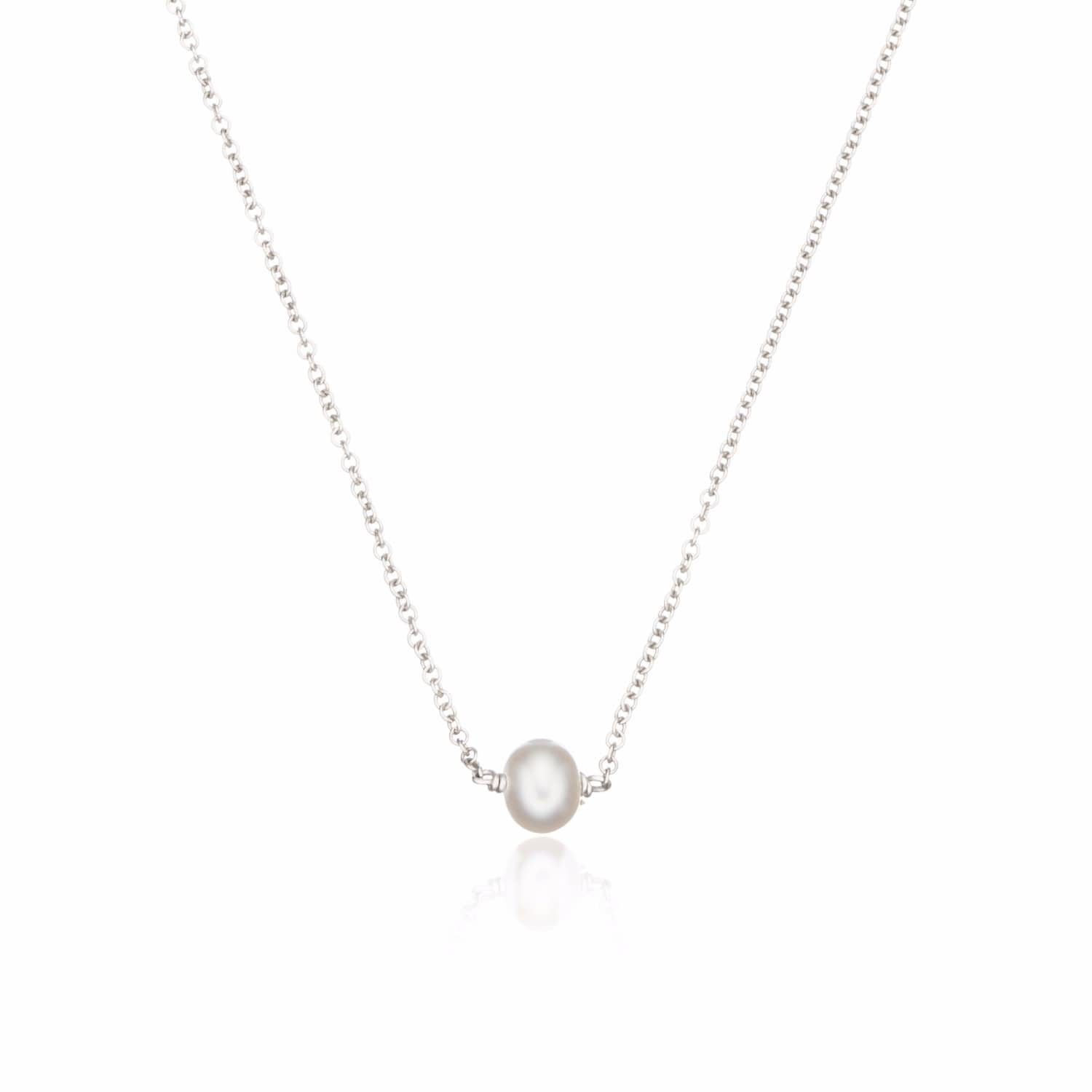 fi singlepearlblack shop single necklace pearl simple