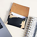 Handcrafted Mini Leather Pouch Business Card Holder - Mila Ink Brushed image