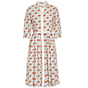 Isla Dress In Red Floral Ogee image