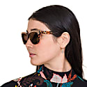 Hollywood 'Paparazzi' - Vintage Cat Eye Sunglasses In Red Tortoiseshell image
