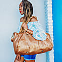 Leather Weekend Classic Duffle & Holdall Bag In Bronze image