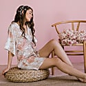 Brooklyn Floral Kimono Robe Ivory image
