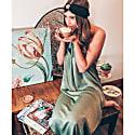 Lullah Halter Maxi Dress In Sage image