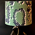 Scaled 1 - Green Velvet Lampshade With Grey Inner Ceiling/ Table Lamp image