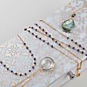 Luna Short Gold Chain Necklace With Labradorite Gemstones image