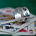 Poker Ring Oxidised Silver image