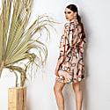 Light Pink Short Kimono Wrap Dress - Massami image