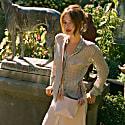 Mini Bone Bag In Blush Velvet image