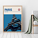 Paris Eiffel Tower Modernist Architectural Travel Poster image