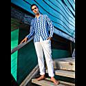 Men's Linen Trousers - Classic White image