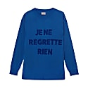 Je Ne Regrette Sweater Blue image