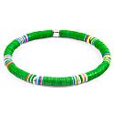 Green Nakuru Silver & Vinyl Disc Bracelet image