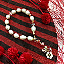 Freshwater Pearls With Red Crystals Bracelet image