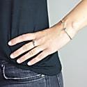 Half Circle Signet Ring Silver image
