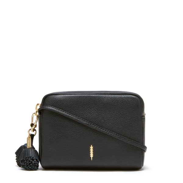 THACKER NEW YORK Pompom Bag in Black and Gold