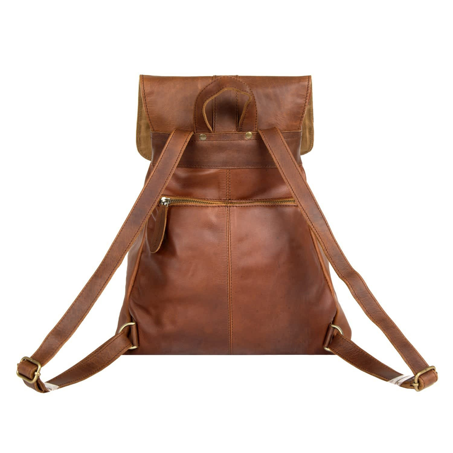 Leather Roma Backpack Rucksack Womens In Vintage Brown image 93a1219c4b731
