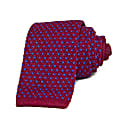 Magenta & Blue Small Dotted Linen Knitted Tie image