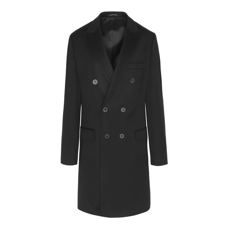 f223a942b Black Double Breasted Loro Piana Coat by DUARTE