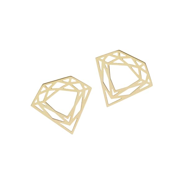 MYIA BONNER Gold Classic Diamond Stud Earrings