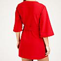 Mary-H-Wrap Mini Dress Kimono In Red image