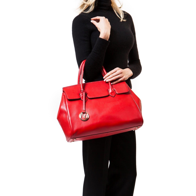 1850eb01b3e1 Ophelia Handbag In Pebble Leather - Red image