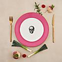 Raspberry Pink Skull Dinner Plate image